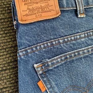 Vintage Orange Tab 619 Levis
